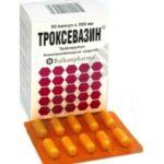 Как пить Троксевазин в капсулах от варикоза?