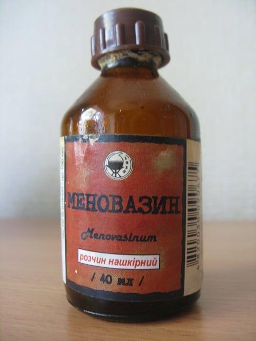Применение Меновазина при варикозе